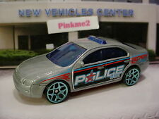 2017 Hot Wheels FORD FUSION☆Gray/red/blue y5;POLICE☆Loose☆Multi Pack Exclusive?