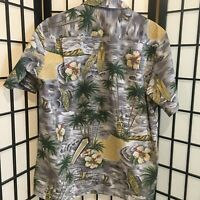 Royal Creations Mens Hawaiian Shirt L Aloha Luau Surfboards