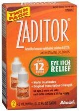 Zaditor Antihistamine Eye Itch Relief Drops Two 5-mL/0.17oz EXP 4/30/2020