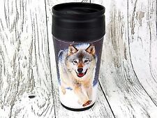 Thermobecher Becher Tasse Thermoskanne Flasche Running Wolf Spirit Tier Trucker