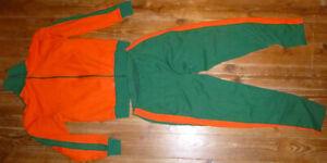 Trainingsanzug HELANCA - Vintage - grün orange - 70er - ULTRA RAR!