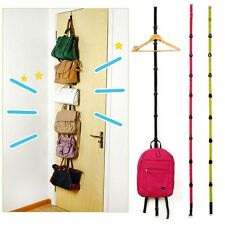 Over Door Wall Storage Organizer Hat Bag Clothes Straps Hanger Rack 7 Hooks Nice