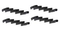 "20xHOSA WTI-157G 18""CABLE HOOK/LOOP TIE ORGANIZER CORD WRAP LOCKING FABRIC-BLACK"