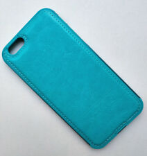 Sky Blue Leather Aluminum Metal Bumper Frame Skin Case Cover for iPhone 6 6S