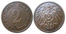 J 11   2 Pfennig Kaiserreich 1906 D in VZ  502849