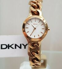 ** DKNY Ladies Watch Rose Gold tone Chain Bracelet RRP£180 (531)