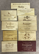 Lot of 10 Assorted Branded Wine Wood Panels Lot 19