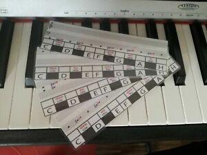 Klavier-, Piano-, Keyboard-, Noten- Schablone für Anfänger