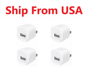 4x 1A Power Adapter Home Wall Charger US Plug FOR iPhone iPod classic touch WHT