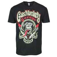 Official Mens Gas Monkey Garage Spark Plugs T Shirt Black NEW