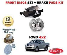 pour Toyota Hilux 2.5TD D4D 4X2 2005-2008 ENSEMBLE DISQUES DE FREIN AVANT &