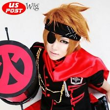 For Kingdom Hearts Roxas Orange Anime Party Short Layered Men Cosplay Hair Wig