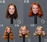 WONDERY 1//6 famale headplay ear can change implanted hair in stock B