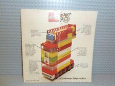LEGO ® catalogue brochure catalog brochure c73de de 1973 avec liste de souhaits Top b291