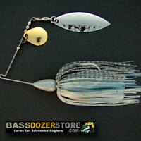 Bassdozer spinnerbaits BULLET 3/8 oz BLUE HERRING spinnerbait spinner bait baits