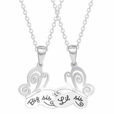 Connections from Hallmark Big Sis Lil Sis Butterfly Necklace Set