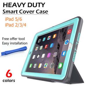 Heavy Duty Shock/Dirt Proof Smart Cover Case iPad 2 3 4 5 6 2017 2018 for Kids