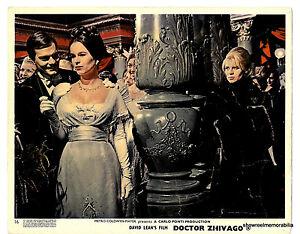 DR ZHIVAGO 1965 Omar Sharif Julie Christie JELOUS SCENE   original UK lobby card