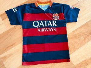 2015 FC BARCELONA #10 MESSI BEKO UNICEF YOUTH LARGE SOCCER JERSEY