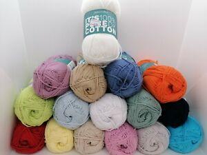 James C Brett 'Its Pure Cotton' DK Double Knitting Yarn 100% Cotton
