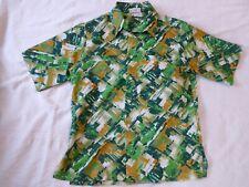 Vintage 70s~A. J. Lester~Polyester Big Collar Disco Shirt~Large~Short Sleeved