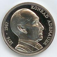Medaille Konrad Adenauer Deutschland Einig Vaterland Ø 40 mm 26 Gr. B10
