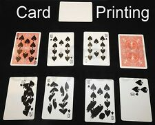 BLANK CARD PRINTING BICYCLE RED RIDER BACK STYLE GIMMICK GAFF PRINT MAGIC TRICK
