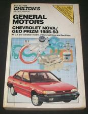 Chevrolet Geo Prizm Nova 1985 to 1993 Chilton's Repair Manual General Motors