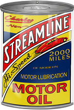 Charles Streamline Motor Oil Can Cutout Sign 7 1/4 x 10 1/2