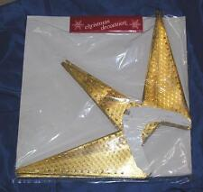 1970'S iop GOLD CARDBOARD FOLDING MORAVIAN MULTI POINT STAR XMAS DECORATION