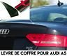 SPOILER BECQUET LEVRE LAME COFFRE AILERON pour AUDI A5 07-11 SLINE QUATTRO S5 V6