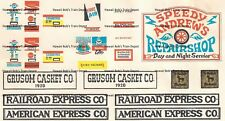 Water Transfer Decals Auto Repair, Eatery, & assorted building signs O Scale