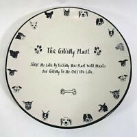 Rae Dunn THE GIVING PLATE Dog Puppy Bone Treats Cookie Cat Pet Serving Platter