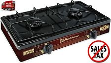 2 Burner Gas Stove Propane Camping Equipment Cooking Portable Outdoor Backyard