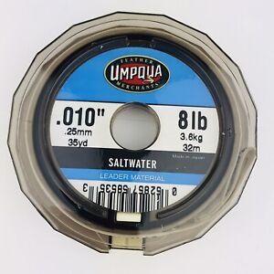 """Umpqua .010"""" 8 Lb Line Tippet Spool Saltwater 35 yard .25mm"""