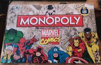 NEW HASBRO MONOPOLY MARVEL COMICS INCLUDES A FREE TOP TRUMPS CARD SUPER RARE!
