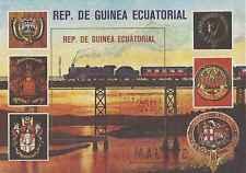 Timbre Trains Guinée équatoriale o lot 8205
