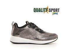 Skechers Bobs Squad Sparkle Argento Scarpe Donna Sportive Running 33155 PEW 2020