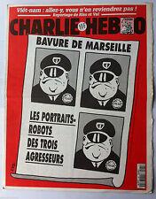 """Charlie hebdo n°165 du 16/8/1995: """"Bavure de Marseille, portraits robots """""""