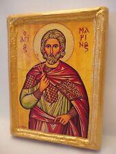Saint Marinos San Marino Marinus Marin Greek Orthodox Icon Art on Real Wood