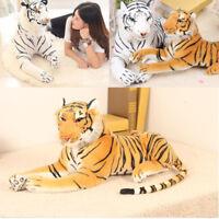 Realistic Plush Animal Tiger Yellow White Tiger Hairy Soft Stuffed Toys Pillow