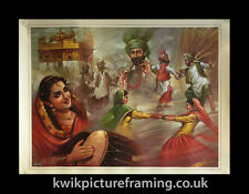 """Punjab Art Bhangra Dancers In Amritsar In Size - 18"""" X 14"""" inches Picture Frames"""