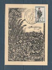 carte  1er jour  journée du timbre    52 Langres    1961