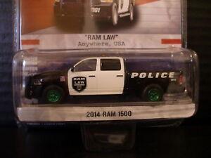 Greenlight Green Machine 2014 Dodge Ram 1500 Truck Police 1 of 124 1/64 Die Cast