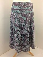 FAT FACE skirt Size 10 lined 100% cotton embroidered brown green purple multi