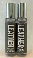 *New* 2-pack~LEATHER ~ TRAVEL PURSE SIZE MIST ~ Bath & Body Works ~ SHIPS FREE!