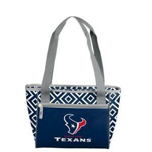Houston Texans Blue White 16 Can Cooler Tote Handbag Purse Lunch Box NFL