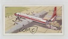 1961 Lyons Tea Wings Across the World Base 10 Canadair Fory Four Canada Card 4az