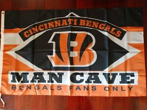 Cincinnati Bengals Man Cave 3x5 Flag. US seller. Free shipping within the US