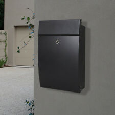 MILKCAN - WALL MOUNT LETTERBOX Canterbury BLACK Mailbox Fence - Brick Wall KEYS